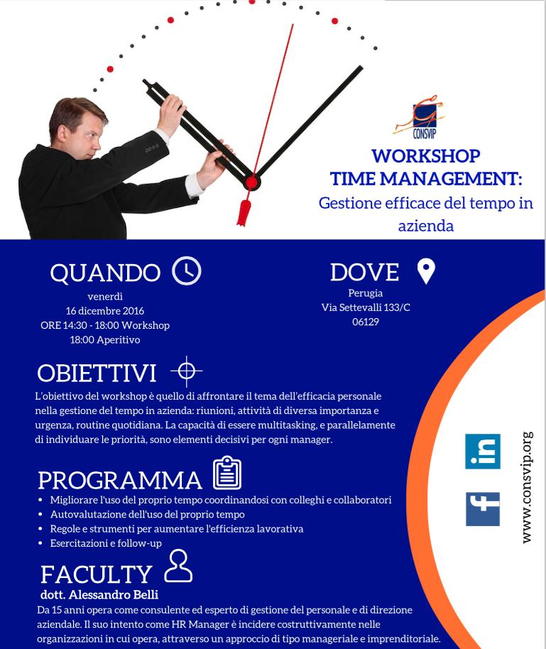 """Perugia – Workshop """"Time Management"""""""